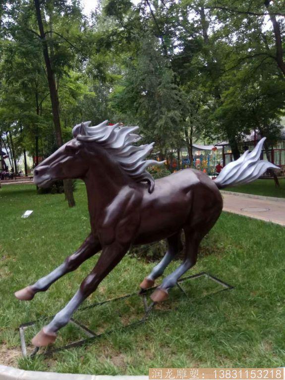 奔马雕塑 玻璃钢仿真马雕塑