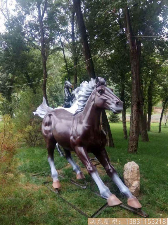 玻璃钢马雕塑 草坪玻璃钢马动物雕塑2