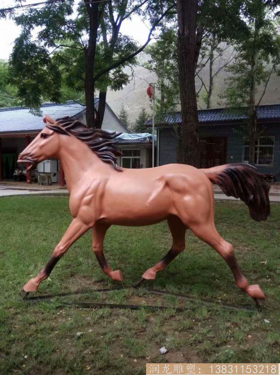 玻璃钢马雕塑 草坪玻璃钢马动物雕塑5