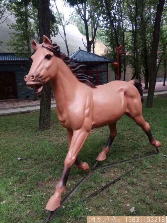玻璃钢马雕塑 草坪玻璃钢马动物雕塑6