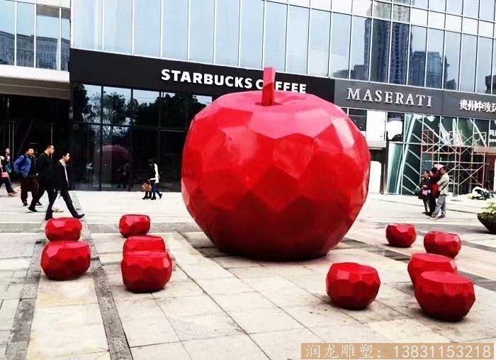 玻璃钢材质仿真苹果雕塑1